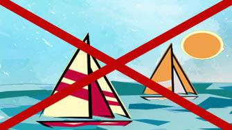 Navigation interdite à baye